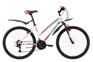 """Велосипед Black One Alta 26 Alloy (2018) белый/розовый/голубой 16"""""""